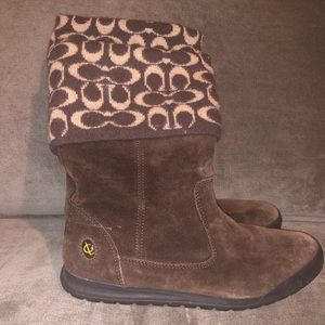 Brown Coach Winter Boots